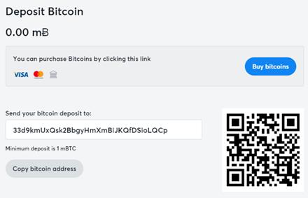 Bitcasino Deponere og ta ut BTC