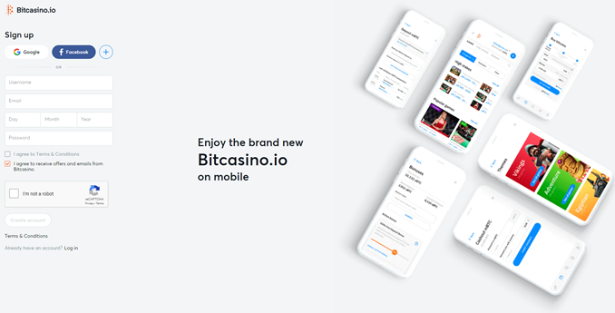 Bitcasino registrering