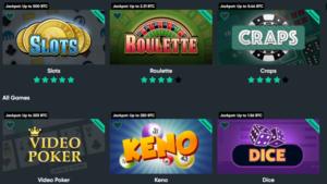 Bitcoin casino spill