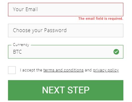 Bitstarz registrering