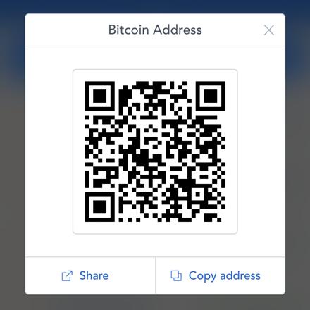 Coinbase Få Bitcoin-adressen din